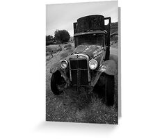 Old Chevrolet Truck I BW Greeting Card