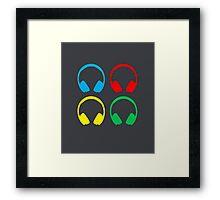 DJ Headphones Framed Print