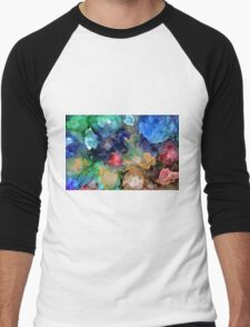 Underwater Blossoms Men's Baseball ¾ T-Shirt