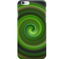 Green Swirl Abstract #1 iPhone Case/Skin