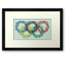 Olympic rings letters Framed Print