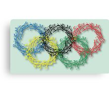 Olympic rings letters Canvas Print