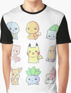 Chibi Pokemon Graphic T-Shirt