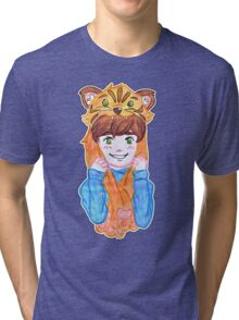 Tiger boy raww Tri-blend T-Shirt