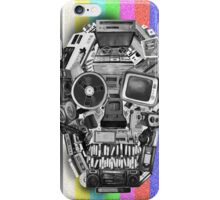 retro tech skull iPhone Case/Skin