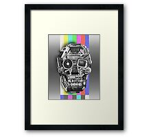 retro tech skull Framed Print