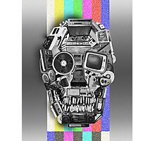 retro tech skull Photographic Print