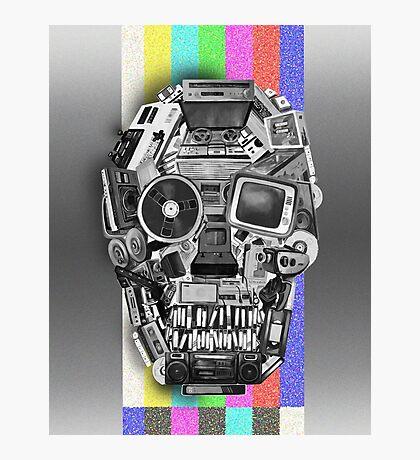 retro tech skull Photographic Print