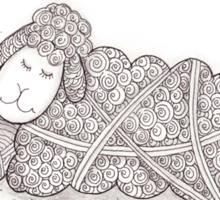 Tangled Sleepy Sheep Sticker