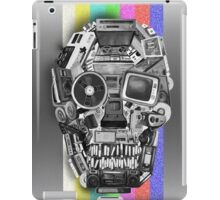 retro tech skull iPad Case/Skin