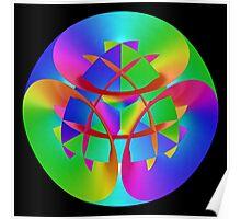 Fractal Rainbow Mandala Poster