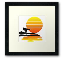Karate at Sunset Framed Print