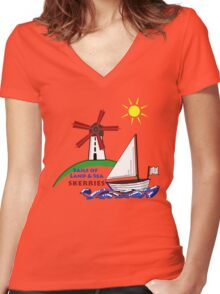 Sails of Land & Sea Women's Fitted V-Neck T-Shirt