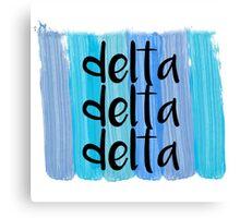 Delta Delta Delta Canvas Print
