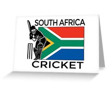 South Africa Cricket Greeting Card
