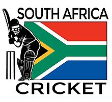 South Africa Cricket Photographic Print