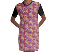 Bright and Bold. Graphic T-Shirt Dress