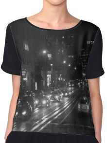 San Francisco Night I BW  Chiffon Top
