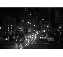 San Francisco Night I BW  Photographic Print