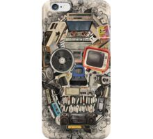 retro tech skull 2 iPhone Case/Skin