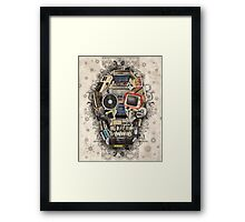retro tech skull 2 Framed Print