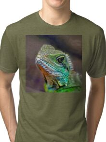 Green Water Dragon Tri-blend T-Shirt