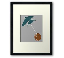 Swallow that coconut Framed Print