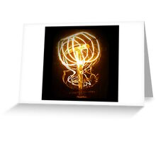 Fire Filament Greeting Card