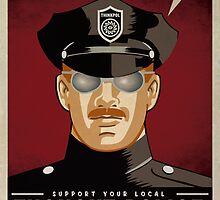 Too Much To Think Thought Police by LibertyManiacs