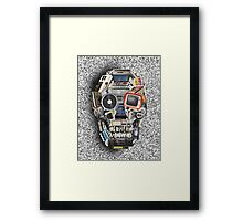 retro tech skull 3 Framed Print