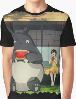 Water Melon Totoro Graphic T-Shirt