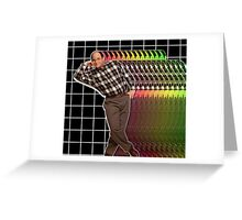 George Glitch Greeting Card