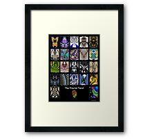 The Fractal Tarot Poster Framed Print