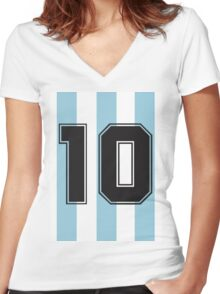 10 Argentina Women's Fitted V-Neck T-Shirt