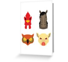 The Four Masks Greeting Card