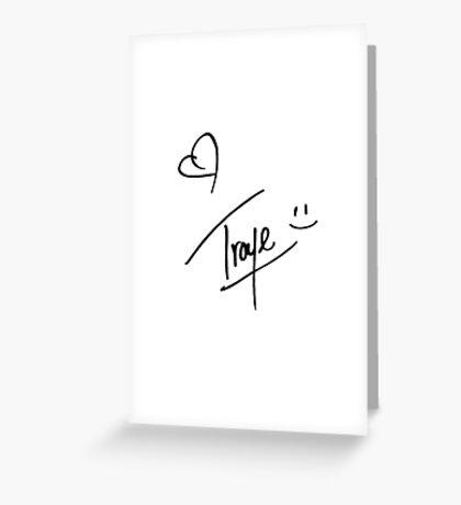 Troye Sivan Signature Greeting Card