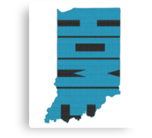 Indiana HOME state design Canvas Print