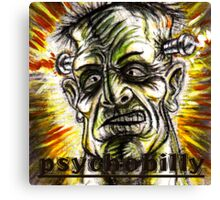 psychobilly frankenstiein Canvas Print
