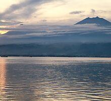 Sundown. Bali Strait. by Keith Thomson