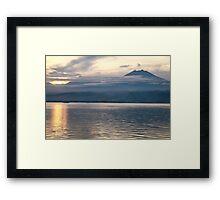 Sundown. Bali Strait. Framed Print