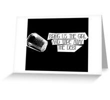 Bring Us the Girl Bioshock Infinite Greeting Card