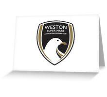 Weston-Super-Mare FC New Badge Greeting Card