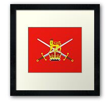 British Army Flag T-Shirt - United Kingdom Reserve Force Sticker Framed Print