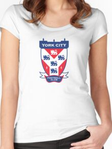 York City FC Badge Women's Fitted Scoop T-Shirt