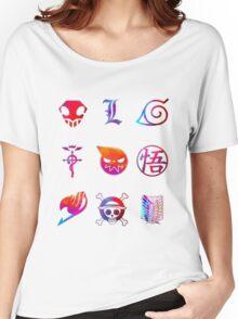 Anime simbols Women's Relaxed Fit T-Shirt