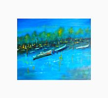 The Marina at Yamba NSW 120 X 100 cm oil on stretched canvas Unisex T-Shirt