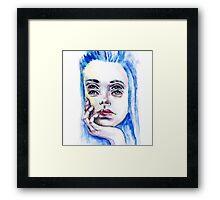 Double eyed girl Framed Print