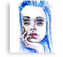 Double eyed girl Canvas Print