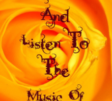 Keep Calm and Listen to the music of your Soul Sticker