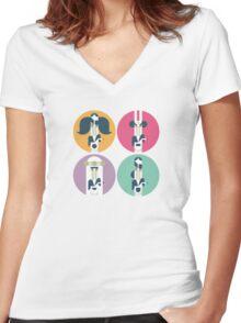 Frank Zappa (portrait) Women's Fitted V-Neck T-Shirt